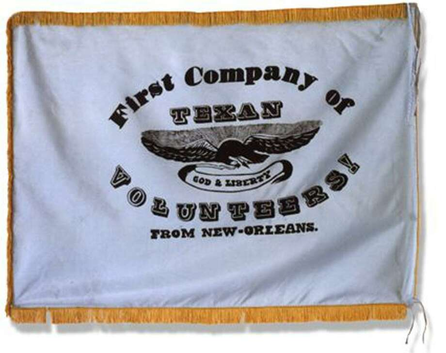 The New Orleans Greys were actually two companies of American and European emigrant volunteers organized out of a public meeting at Banks Arcade in New Orleans on Oct. 13, 1835.  Both companies left for Texas in the latter part October 1835.  Many of the original members of the New Orleans Greys were either killed at the Alamo on March 6, 1836, or massacred along with the rest of Fannin's men on March 27, 1836. The New Orleans Greys flag is believed to be the only one taken at the Alamo by General Santa Anna.  The flag has continued to be housed in various Mexican museums to this day. In recent years, there have been several unsuccessful attempts to reclaim the flag and return it to Texas and the Alamo. Photo: Courtesy Texas A&M University
