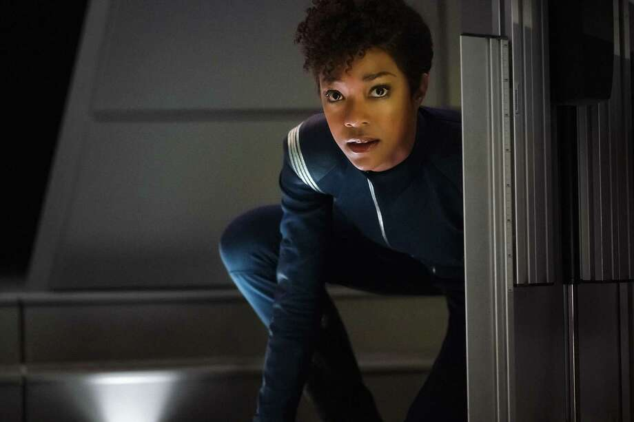 Sonequa Martin-Green, Star Trek: Discovery | Photo Credits: Jan Thijs, CBS / © 2017 CBS Interactive. All Rights Reserved.