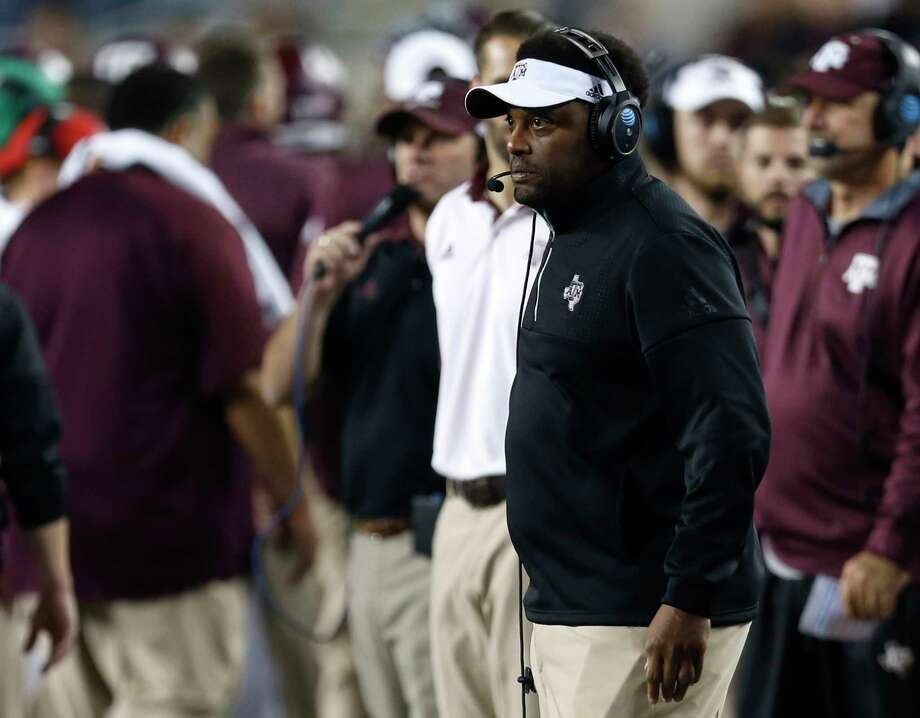 Texas A&M coach Kevin Sumlin hopes to be in a happier mood on the sideline during November games this season. Photo: Brett Coomer, Staff / © 2016 Houston Chronicle