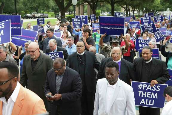 More than 200 religious leaders from around the state marched up to the steps of the Capitol Thursday where lawmakers are in final weeks of a special session.
