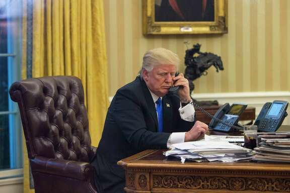 President Donald Trump, on the phone with Australian Prime Minister Malcolm Turnbull, engaged in contentious talks about domestic policies.