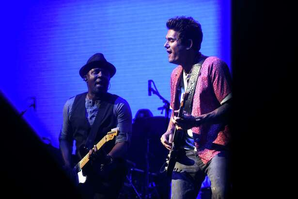 John Mayer performs with his band at the AT&T Center on Thursday. The Boston band The Night Game was the opening act.