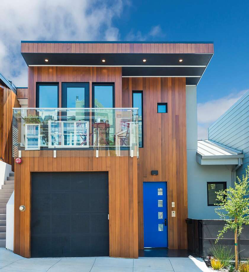 175 Brewster St. is a newly built trilevel in Bernal Heights available for $2.15 million. Photo: Olga Soboleva / Vanguard Properties