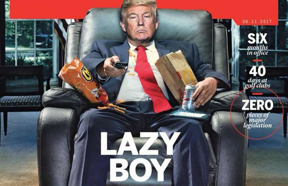Image result for lazy boy trump pic