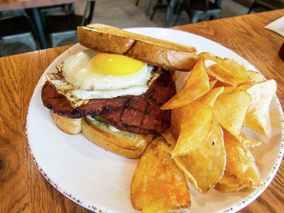 Smoked bologna sandwich at Gatlin's BBQ Photo: J.C. Reid