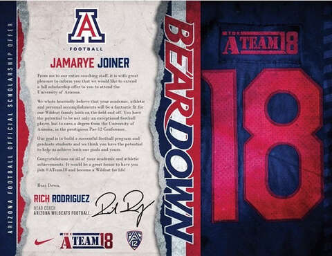 what college football scholarship letters look like these days
