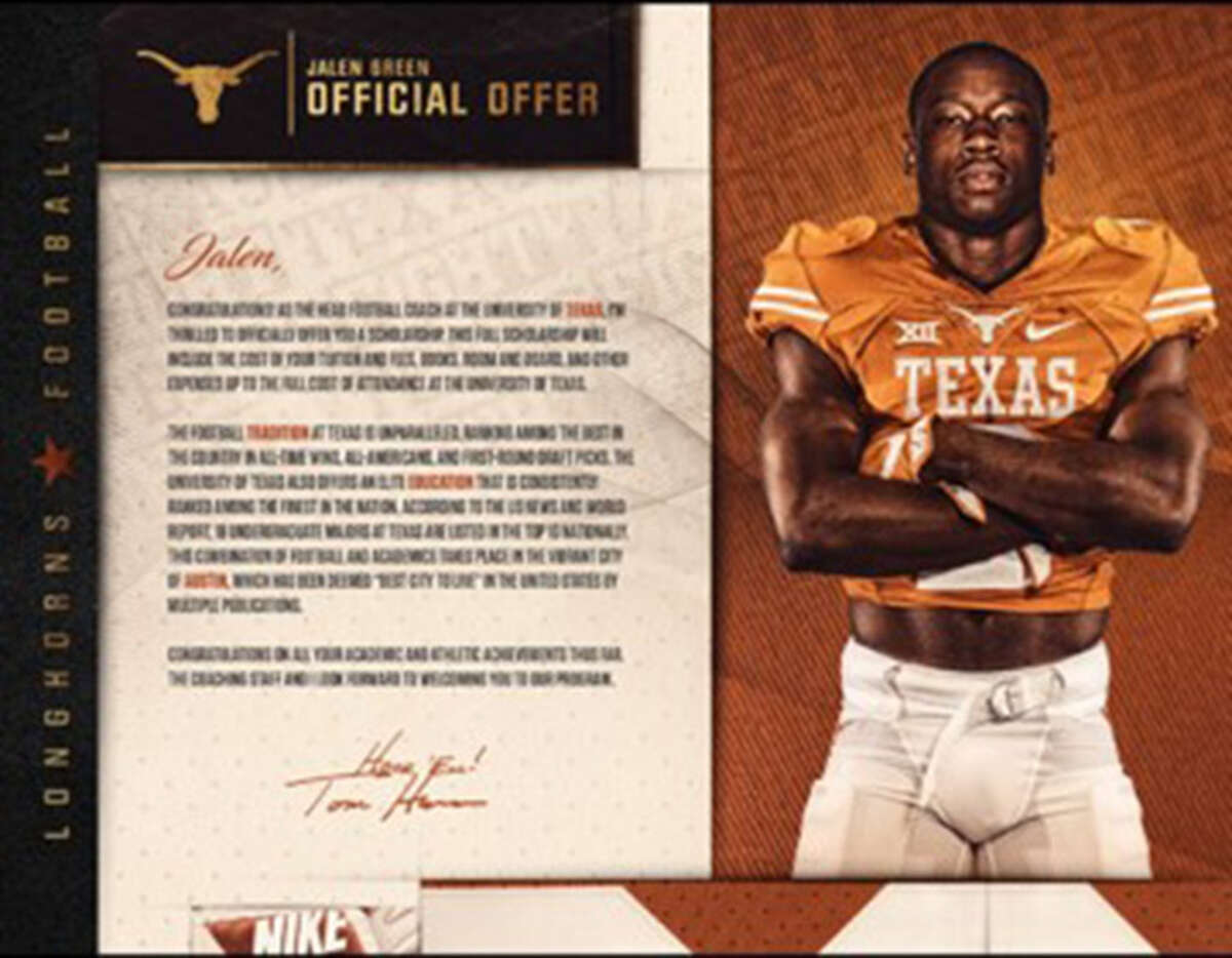 Texas Aug. 1 is the first day college football programs can send official scholarship offers to high school athletes. Most college programs have taken their letters to the next level.