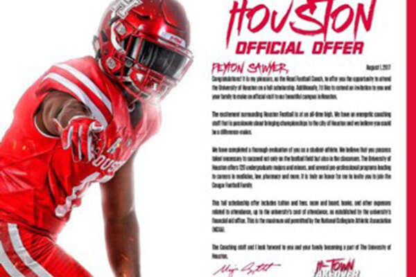 Houston Aug. 1 is the first day college football programs can send official scholarship offers to high school athletes. Most college programs have taken their letters to the next level.