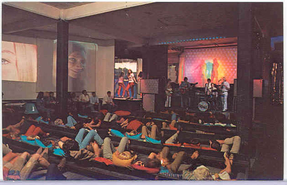 Interior of the building when it was the rock club Love Street Light Circus Feel Good Machine. Photo: Special Collections, University Of Houston
