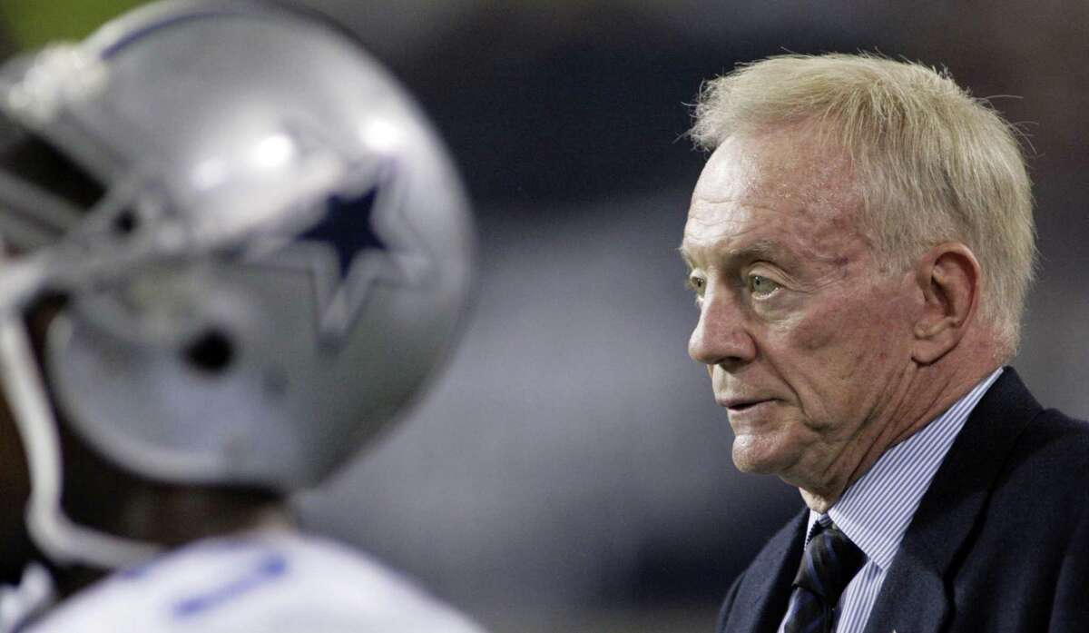 Dallas Cowboys owner Jerry Jones is seen on the sidelines during the second half against the Minnesota Vikings on Jan. 17, 2010, in Minneapolis.