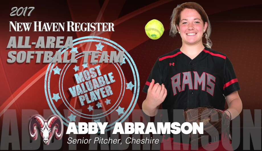 The 2017 New Haven Register All-Area Softball Team. Abby Abramson, Cheshire MVP Photo: NHR Staff