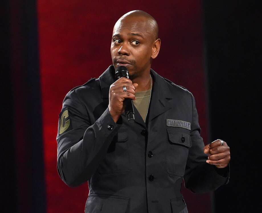 """FILE-- Dave Chappelle performs to a sold out crowd onstage at the Hollywood Palladium on March 25, 2016 in Los Angeles. Chappelle was announced as best guest actor on a comedy series for his appearances on """"Saturday Night Live."""" Photo: Lester Cohen, WireImage"""