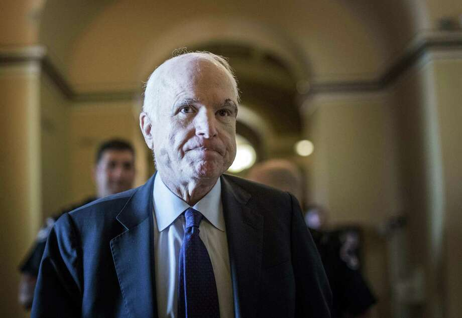 In a dramatic showdown on the Senate floor, Sen. John McCain, R-Ariz., stunned his colleagues by joining two other Republicans to reject the latest attempt to rewrite the ACA. MUST CREDIT: Melina Mara, The Washington Post. Photo: Melina Mara / The Washington Post / The Washington Post
