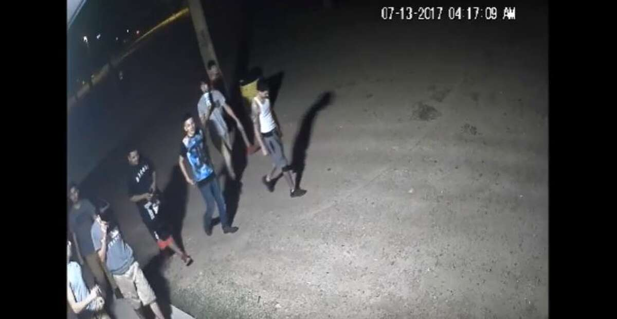 Laredo police said they need to identify the people in this group in connection with a vandalism case at Slaughter Park.