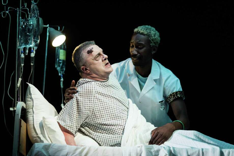 """Nathan Lane stars as legendary New York City """"fixer"""" Roy Cohn in the National Theatre production of """"Angels in America."""" Photo: Helen Maybanks/National Theatre/Contributed Photo / Helen Maybanks / Connecticut Post Contributed"""