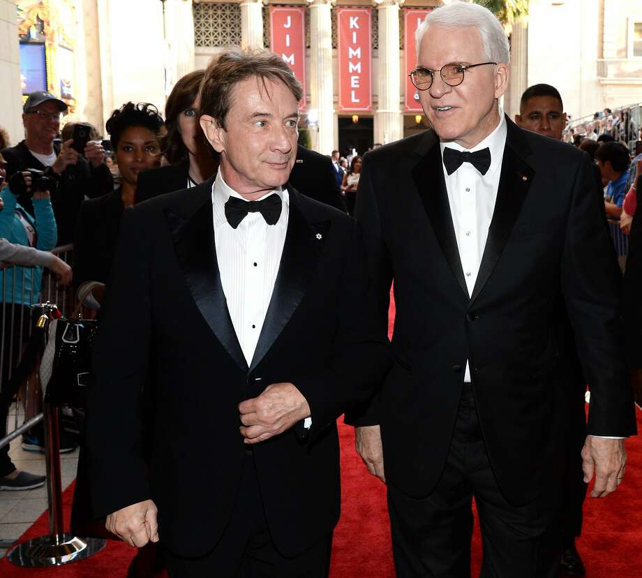 Martin Short and honoree Steve Martin walk the red carpet at the 43rd AFI Life Achievement Award Gala honoring Martin in 2015 in Hollywood. Photo: Getty Images