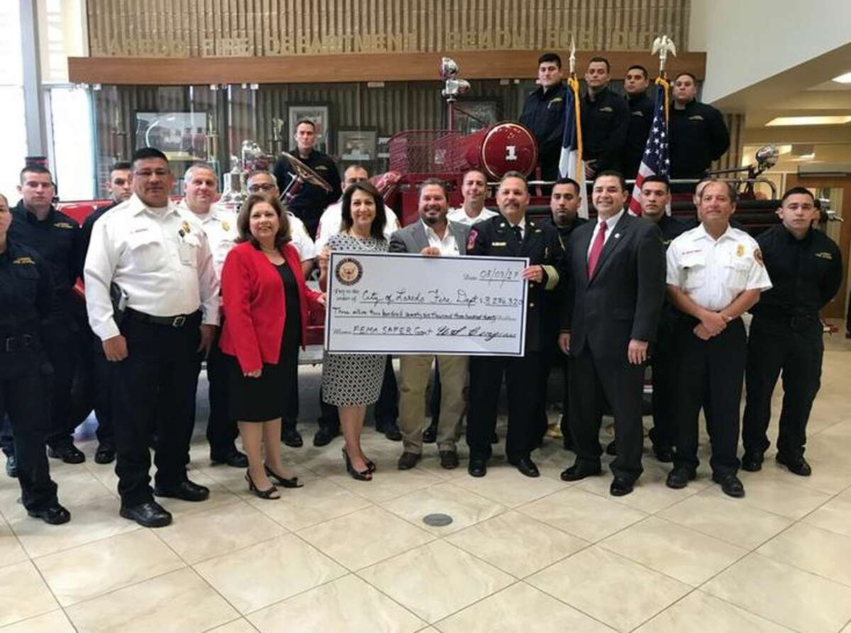 The City of Laredo secured a $3.3 million federal grant that will allow the Laredo Fire Department to hire 24 new front-line firefighters.