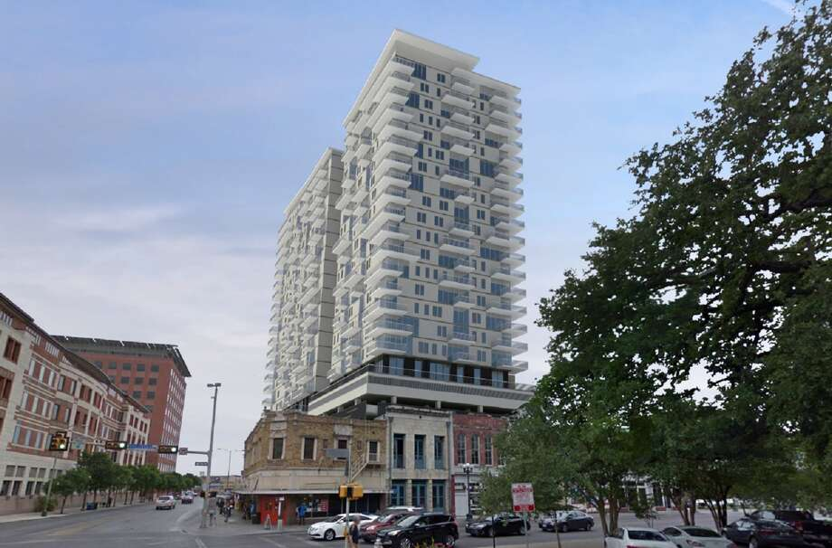 Kallison Square will include include 15 floors of residential units on top of a six-story parking garage with 525 spaces. It is expected to be complete in 2020. Photo: Courtesy Teeple Partners