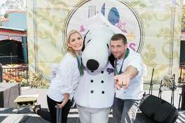 Kelsey Henderson and Adam Glick attend Great America: Taste of Orleans Cooking Demonstration with Chefs Adam Glick and Kelsey Henderson on July 29th 2017 at Great America in Santa Clara, CA