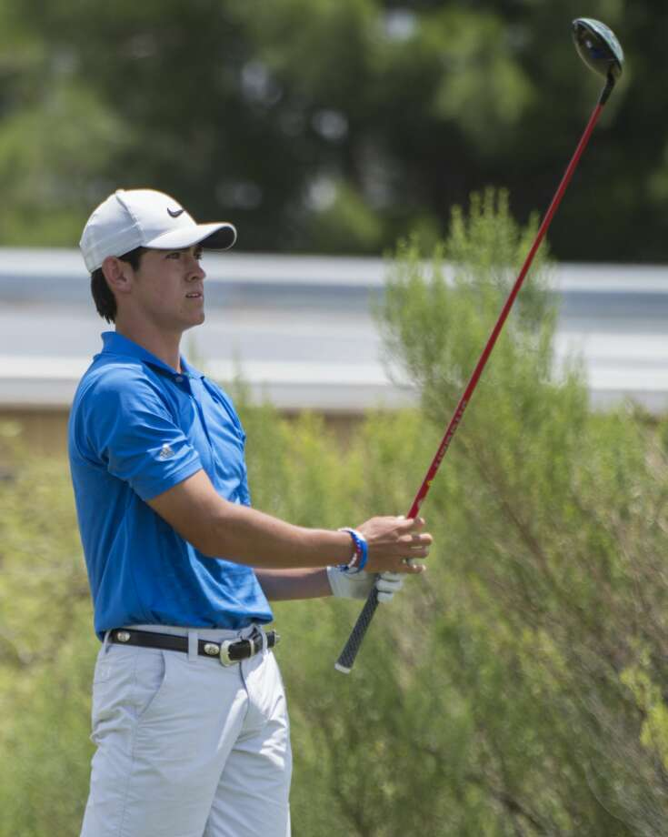 Austin Escamilla follows his shot 8/04/17 in the opening round of the Midland Men's City Tournament at Hogan Park Golf Course. Tim Fischer/Reporter-Telegram Photo: Tim Fischer/Midland Reporter-Telegram