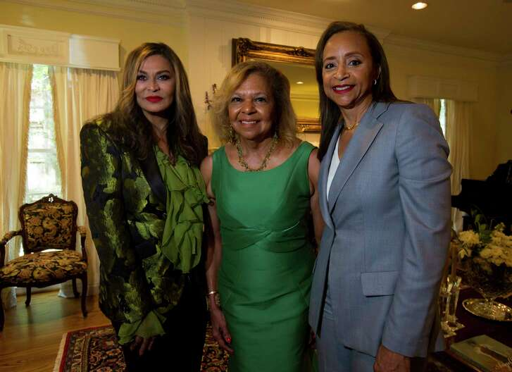 Tina Knowles Lawson, from left, Yvonne Cormier and Cheryl Creuzot