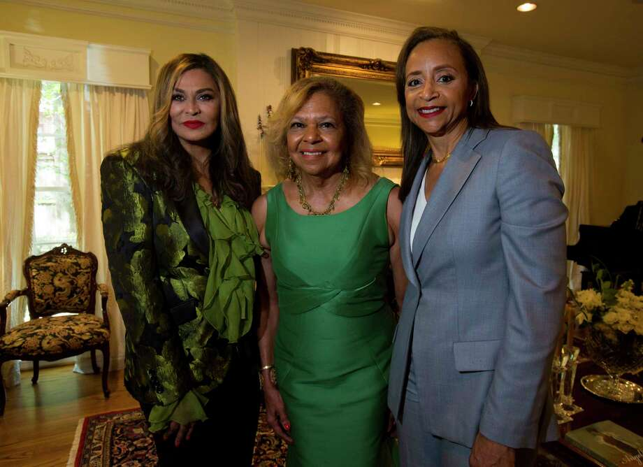 Tina Knowles Lawson, from left, Yvonne Cormier and Cheryl Creuzot Photo: Annie Mulligan, Freelance / @ 2017 Annie Mulligan Houston Chronicle