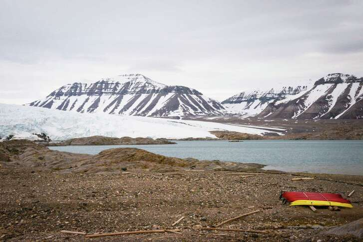 """The Nordenskiöld Lodge's """"front yard"""" is a few steps from the Nordenskiöld Glacier."""