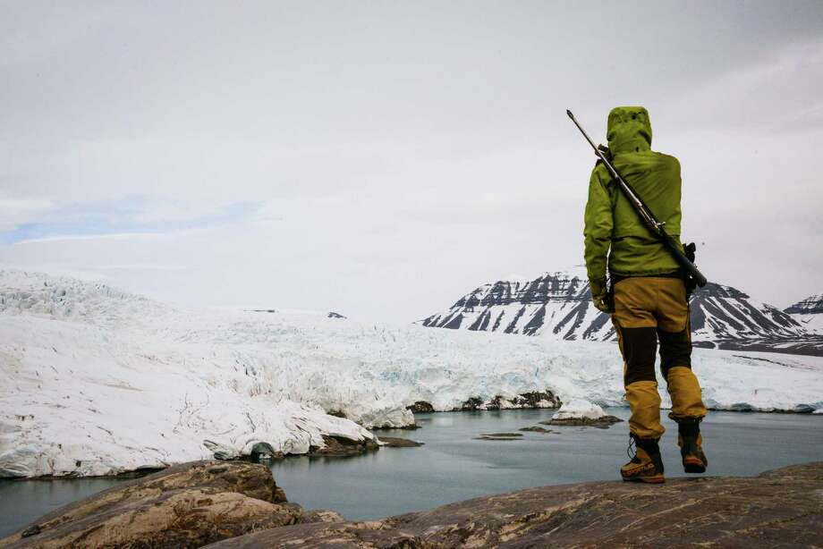 The Nordenskišld Glacier sweeps up from Billefjorden in the southwest of Svalbard. Photo: Jill K. Robinson / ONLINE_YES
