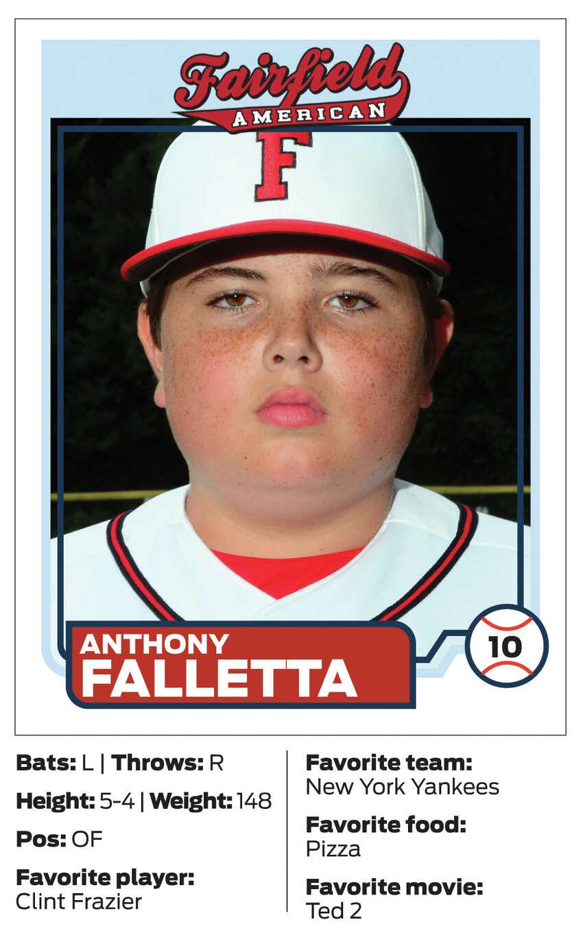 Fairfield American Little League player #10 Anthony Falletta
