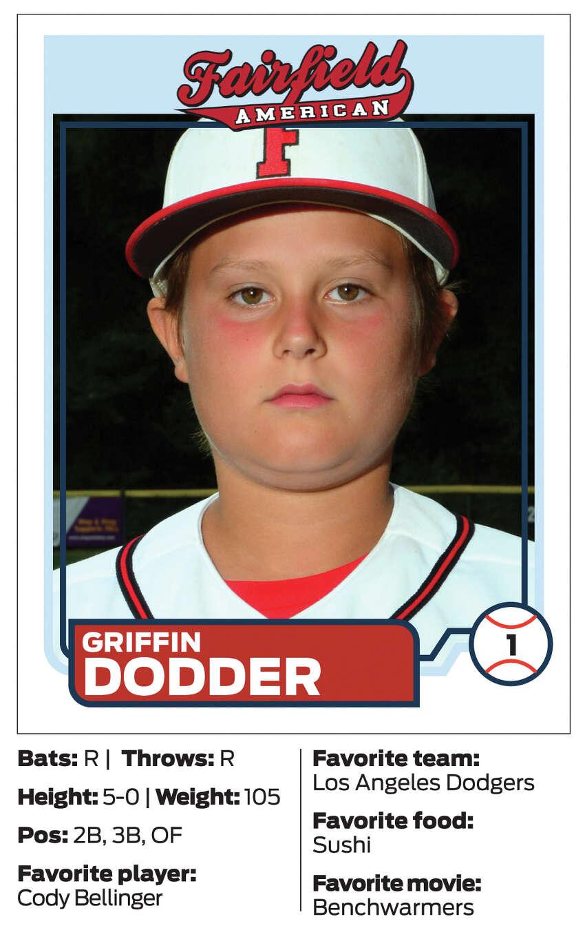 Fairfield American Little League player #1 Griffin Dodder