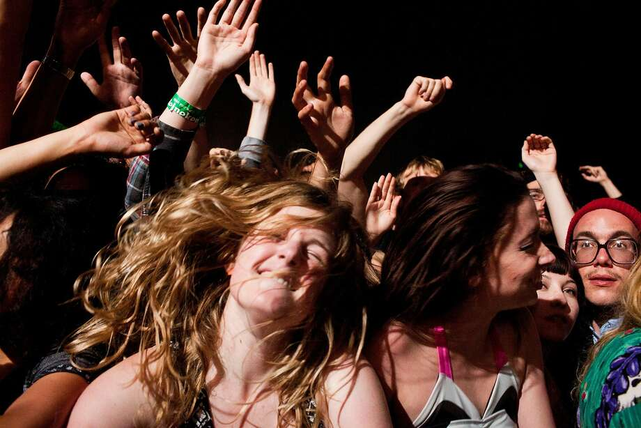 Fans dance to the music of Justice at the 2012 Outside Lands festival. The event has over
