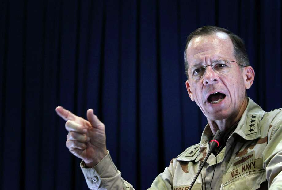 Adm. Mike Mullen, chairman of the Joint Chiefs of Staff in 2010, continues to warn about the consequences of the national debt. Photo: Associated Press File Photo / Associated Press