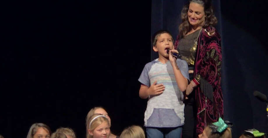 "Idina Menzel asks a young boy to sing ""Let it Go"" and is completely blown away by his unexpected talent. >>Here are the faces who voiced some of Disney's most beloved characters..."