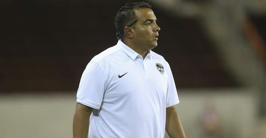 Interim coach Omar Morales saw the Dash's six-game unbeaten streak end Saturday afternoon with a 2-1 loss at Portland. Photo: Yi-Chin Lee/Houston Chronicle