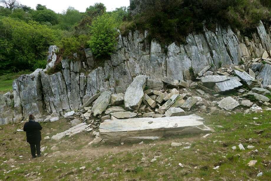 Craig Rhos-y-felin, believed to be the quarry for Stonehenge's bluestones. Photo: John Flinn, Special To The Chronicle