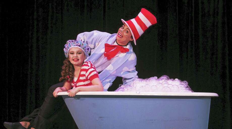 Jojo is played by Ava Loughlin, 10; the Cat in the Hat by  Denise Rosa-Dumas. Photo: Photo / Kami Parisella