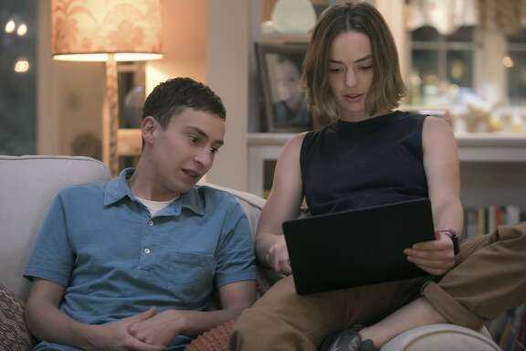 Atypical, season 1 on Netflix. Starring�Keir Gilchrist, Jennifer Jason Leigh, Brigette Lundy Paine, Michael Rapaport