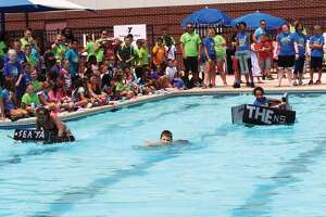 The YMCA's Teen Adventure Camp hosted its annual cardboard boat races Thursday afternoon. Three teams competed: The Comeback Crew, Titan and the Navy Seals. Although team Titan finished the lap across the pool, the Navy Seals came out on top as their boat remained intact through the whole race.