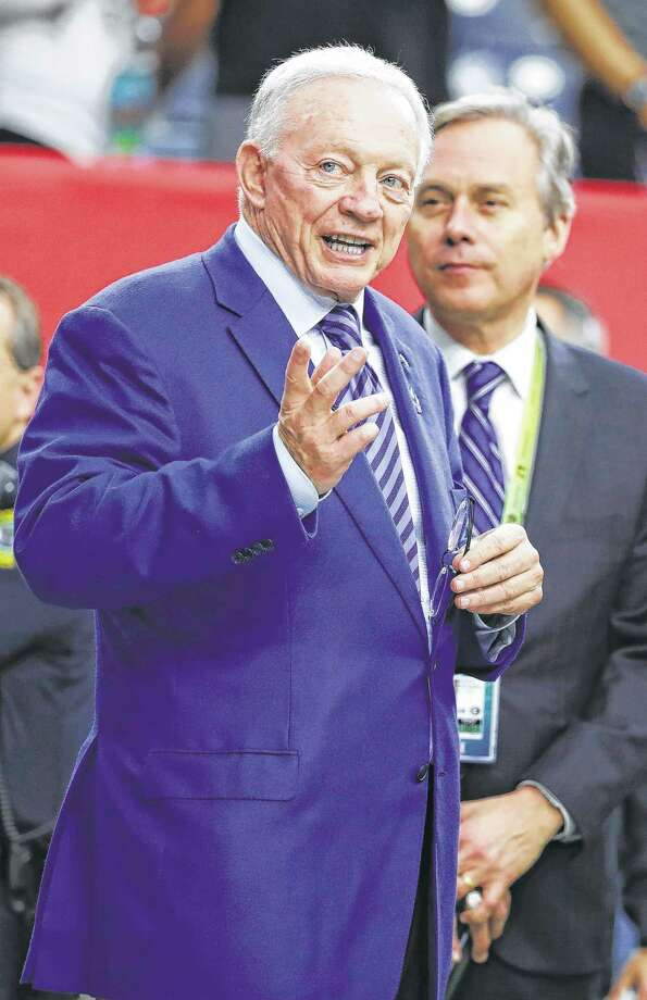 Dallas Cowboys owner Jerry Jones walks on the field before the NFL Super Bowl 51 football game between the New England Patriots and the Atlanta Falcons, Sunday, Feb. 5, 2017, in Houston. (AP Photo/Chuck Burton) Photo: Chuck Burton, STF / Copyright 2017 The Associated Pr
