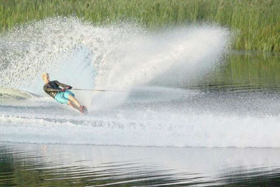 Porter Brown won the Michigan Water Ski Association state title in slalom in the Men's 1 (18-23) Division on July 22. (Photo provided)