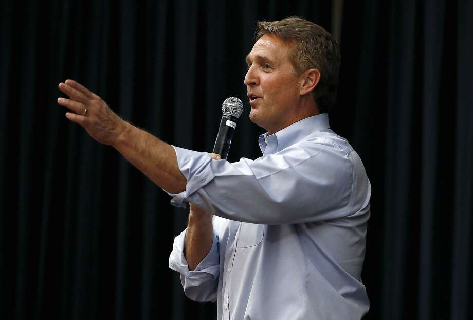 Republican Sen. Jeff Flake is a first-termer who may have blasted a big hole in his re-election campaign next year by publishing a book critical of President Trump and his leadership. Photo: Ross D. Franklin, Associated Press