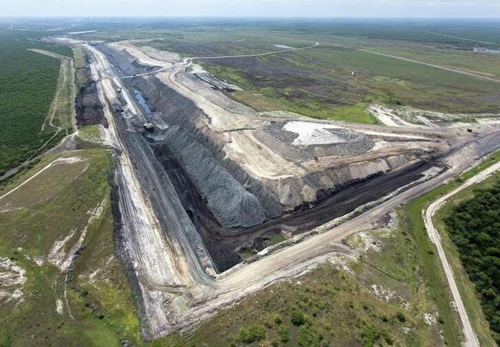 One of the sections of the San Miguel lignite coal strip mine near Campbellton is seen Wednesday, May 17, 2017 in an aerial image. The San Miguel Electric Cooperative's longtime lignite mine, which supplies the fuel for its nearby power plant, wants to expand its footprint in McMullen County.