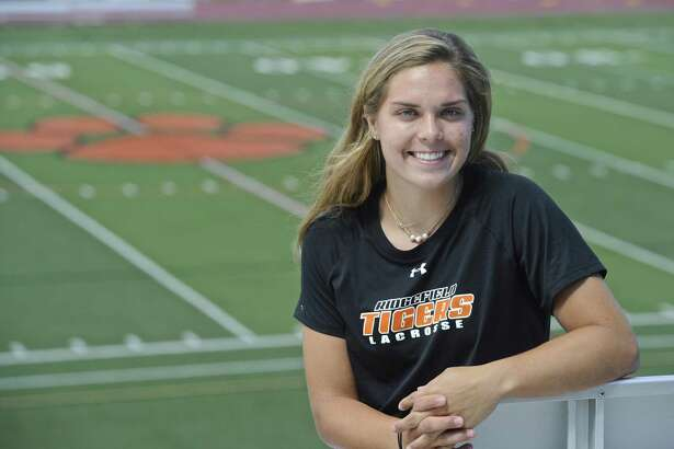 Caroline Curnal, of Ridgefield, is the Hearst Female Athlete of the Year. Curnal played, volleyball, basketball and lacrosse at Ridgefield.
