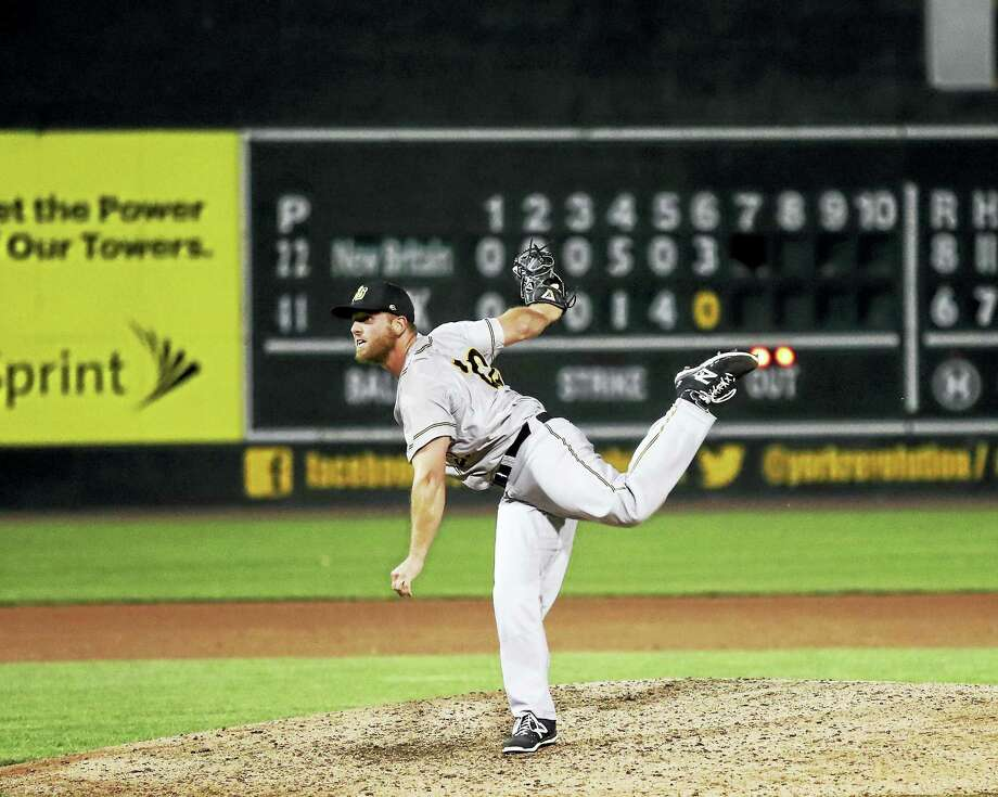 Windham's Shawn Gilblair is working double duty as the closer and pitching coach for the New Britain Bees. Photo: Photo By Joe Doll
