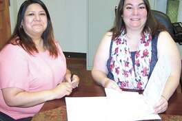 The St. Joseph's Home Health team—including the billing department—is  there for you when you need help at home due to health issues. Karen  Ramirez, left, helps Rebecca Boyd make sure insurance companies are  billed properly so clients can be sure they continue to get the help  they need.