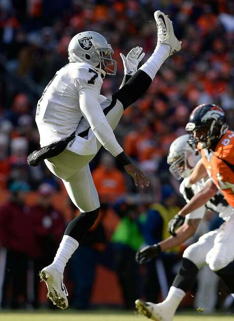 Punter Marquette King avoided the media early in his career but has embraced posting about himself on social media. Photo: AAron Ontiveroz, Denver Post Via Getty Images