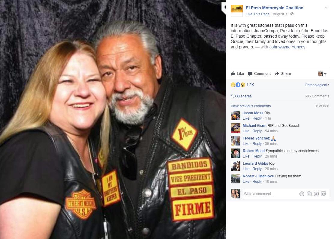 Leader Of The Bandidos Biker Club Dies After Being Shot