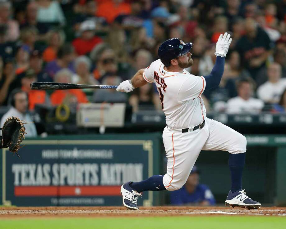 Houston Astros Tyler White (13) hits a home run during the third inning of an MLB game at Minute Maid Park, Saturday, Aug. 5, 2017, in Houston. Photo: Karen Warren, Houston Chronicle / @ 2017 Houston Chronicle