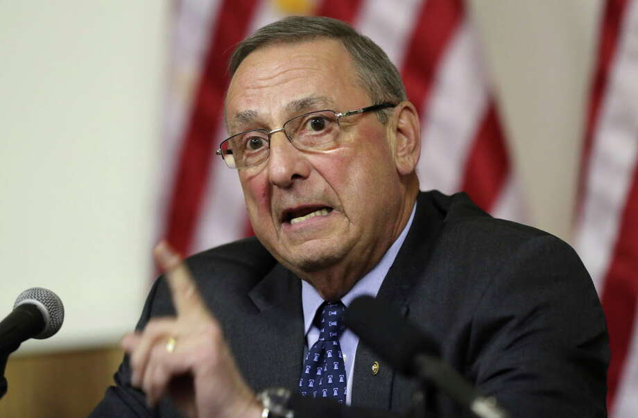 "FILE - In this Wednesday, March 8, 2017, file photo, Maine Gov. Paul LePage speaks at a town hall meeting, in Yarmouth, Maine. LePage has some choice words for the state's senators after their health care vote, calling fellow Republican Susan Collins and independent Angus King ""dangerous."" LePage targeted them in an op-ed published Wednesday, Aug. 2, in the Wall Street Journal after they voted against a GOP proposal to repeal parts of ""Obamacare."" (AP Photo/Robert F. Bukaty, File) ORG XMIT: NYAG306 Photo: Robert F. Bukaty / Copyright 2017 The Associated Press. All rights reserved."