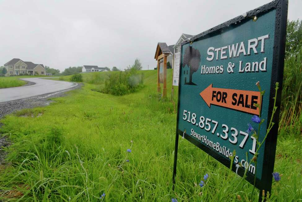 A view of Stewart Construction's West Wind housing development on Tuesday, July 25, 2017, in Ballston, N.Y. The state Department of Agriculture and Markets is investigating if the development, which was built by Town Board member Kelly Stewart's husband, violated town regulations by hooking up to a water extension. (Paul Buckowski / Times Union)